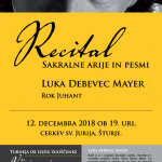 Koncert Luka Debevec Mayer 12.12.2018 ob 19h